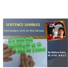 Five Senses Unit with Sentence Jumbles