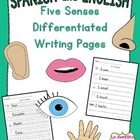 Five Senses Writing (Spanish and English)