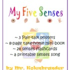 Five Senses pair talk poster, mini-book, flashcards and so