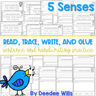 Five Senses read, trace, glue, and draw