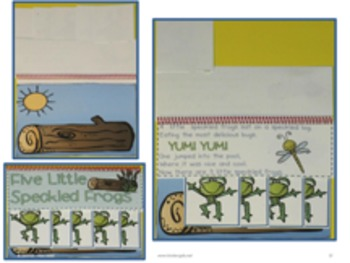 Five Speckled Frogs - Interactive Chart and Sight Word Reader