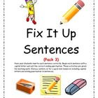 Fix It Up Sentences (Capital Letters and Ending Punctuatio