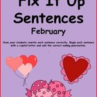 Fix It Up Sentences (February) Capital Letters and Ending