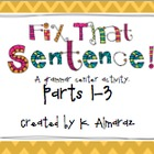 Fix That Sentence Parts 1-3 Bundle