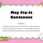 Fix-it Sentences - May