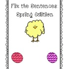 Fix the Sentences: Spring Edition