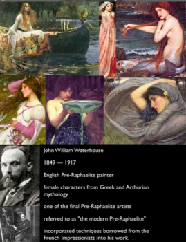 Flash Cards, 18, of Pre-Raphaelites & Romance Era Art