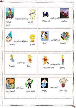 Flash Cards- Comparison for beginners