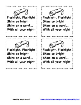 Flashlight, Flashlight Sight word center