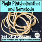 Flatworms and Roundworms (Platyhelminthes Nematoda) Quiz