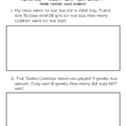 Flexible/Invented Methods- Addition & Subtraction Quiz