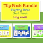 Flip Book Bundle for beginning blends short vowels and lon