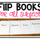 Flip Book Set: Use for ALL Subjects!