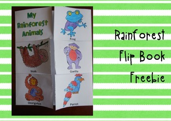 Interactive Flip Book of Rainforest Animals