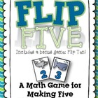 Flip Five! A Math Game for Making Five {Ocean}