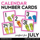 Flip Flop Calendar Numbers