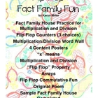 Flip Flop Fact Family House Fun - Commutative, Mult/Div wi