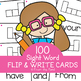Flip & Write Cards - Learn to Spell Sight Words
