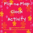 Flip-the-Flap Telling Time Clock Activity FREEBIE!