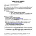 Flipped Lesson Assignment- Kitchen Measurement for use wit