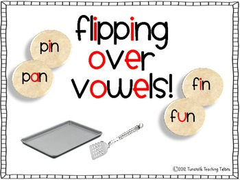 Flipping Over Vowels Freebie