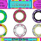 Floral Circle Frames