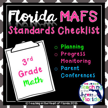 Florida 3rd Grade MAFS Planning and Progress Monitoring Checklist