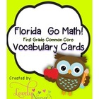 Go Math! Florida Common Core First grade vocabulary cards