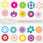 Flower Cliparts Set 2