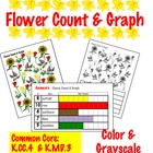 Flower Count &amp; Graph  - Common Core Measurement &amp; Data