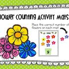 Flower Counting Activity Mats