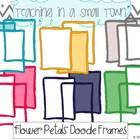 Flower Petals Doodle Frames