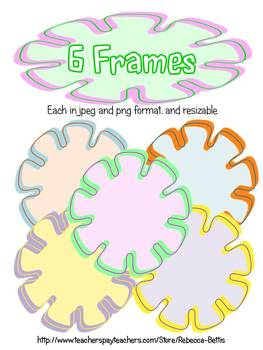 Flower Power Clip Art: Backgrounds, Borders, and Frames