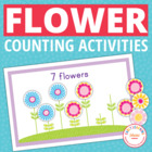 Flower Power Counting Cards for Pre-K and Early Childhood