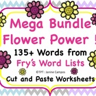Sight Word Worksheets: Flower Power BUNDLE : 135+ Fry's Si