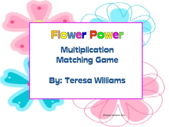 Flower Power/ Multiplication Matching
