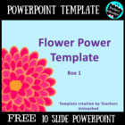 Flower Power  PowerPoint Template  FREE