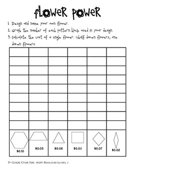 Flower Power:  Problem Solving, Multiplying Decimals, and