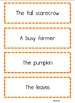 Sentence Shuffle - FALL FAVORITES - aligned with CCSS