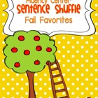 Fluency Center:  FALL FAVORITES Sentence Shuffle - aligned