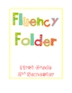 Fluency Folder/ First Grade/ 2nd Semester