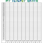 Fluency Graphs for Student Data Notebooks
