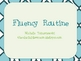 Fluency Routine