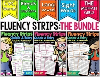 Fluency Strips (The BUNDLE) - Quick and Easy Practice and Assessment