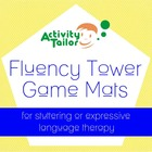 Fluency Tower Game Mats for stuttering or expressive langu