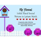 Fly Home!  Initial Blends Picture to Letters Match