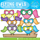 Flyin' Owls - FREE Graphics From the Pond