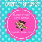 Flying High with Fluency Phrases - Fluency Phrase Game Boards