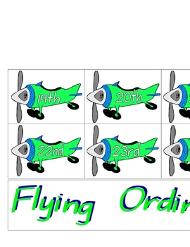 Flying Ordinal Planes - Room Display - 3 pages