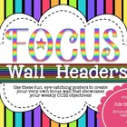 Focus Wall Headers: Neon Rainbow Edition